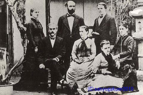1879年頃日本組合岡山教会の宣教師たち