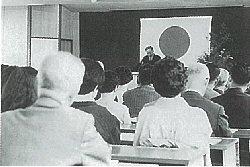 1969年山陽学園短期大学の開学式